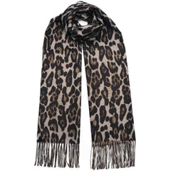 DAGNY Leopard Lurex Scarf Scarves Black animal w/lurex