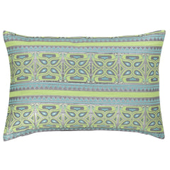 DAGNY #192-582/40 Cushion cover Green/turquoise w/lurex