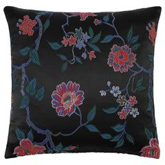 DAGNY #134-553/50 Cushion cover Black w/multicolor flowers