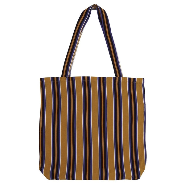 DAGNY Shopper #19051 Bag Mustard w/stripes