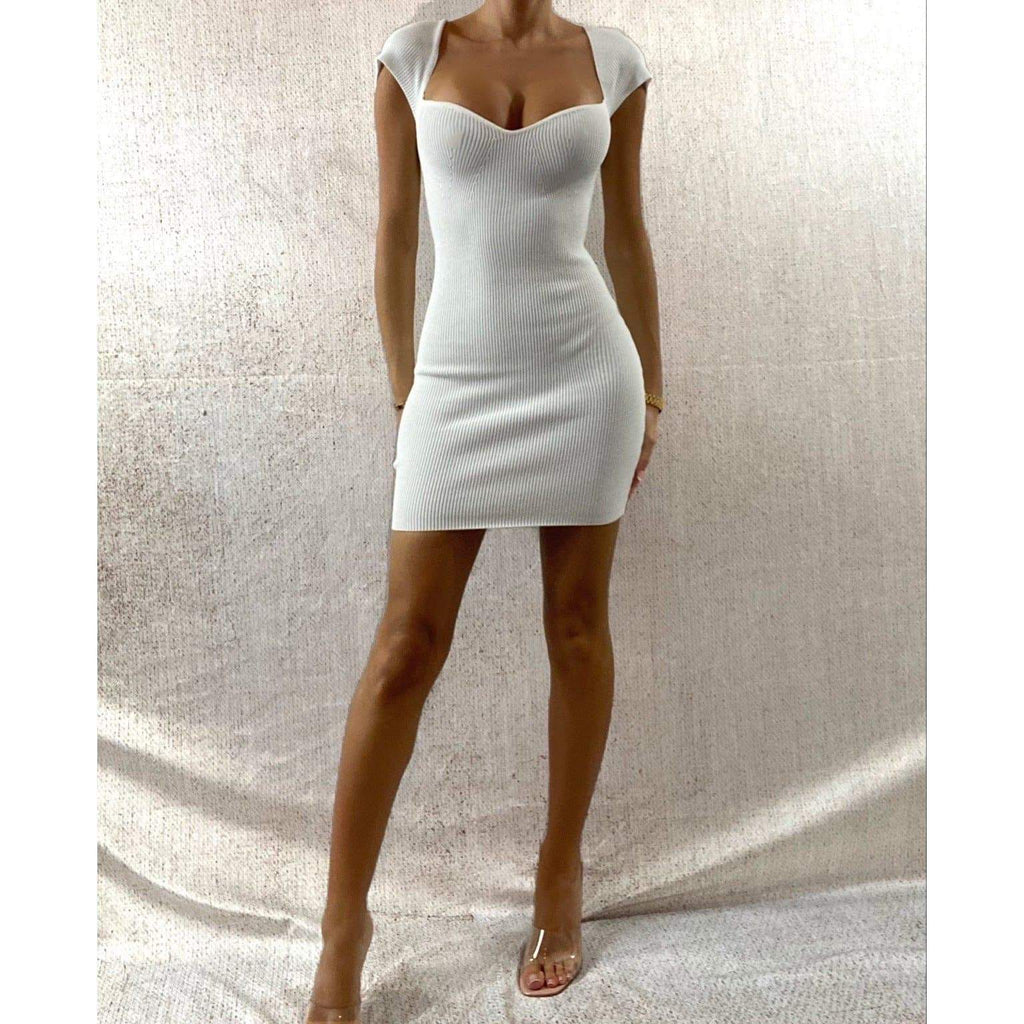 ALANA MINI DRESS - CREAM DRESS Laucala Boutique