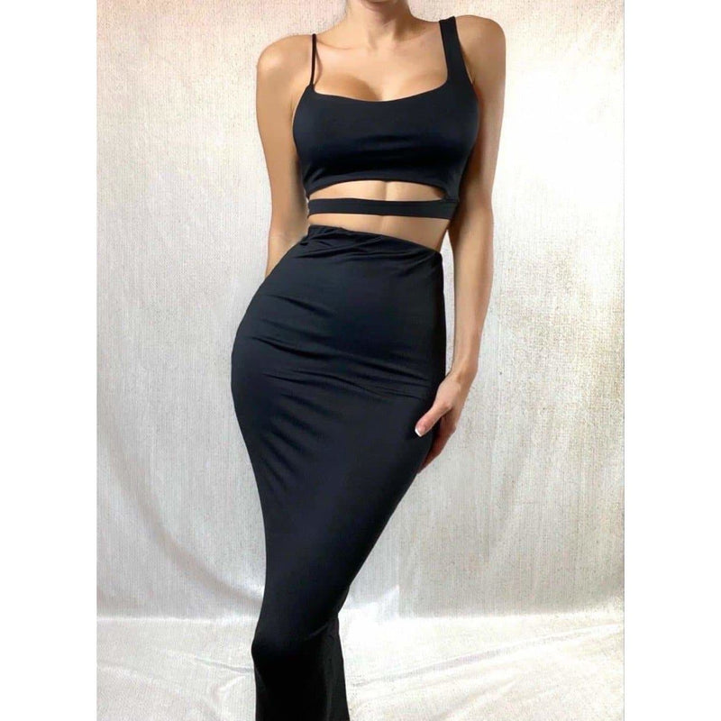 BLACK LOLA TWO PIECE SETS Laucala Boutique