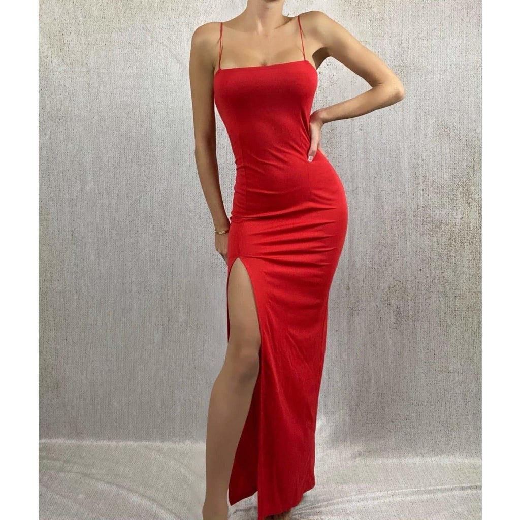 CARLA DRESS - RED DRESS Laucala Boutique