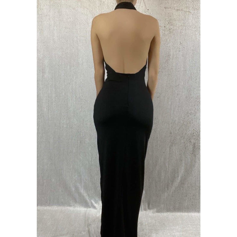 CAT MAXI CUT OUT DRESS - BLACK DRESS Laucala Boutique