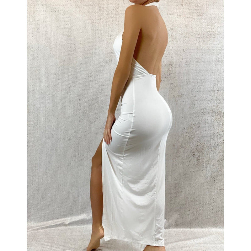 CAT MAXI CUT OUT DRESS - WHITE (PRE-ORDER) DRESS Laucala Boutique