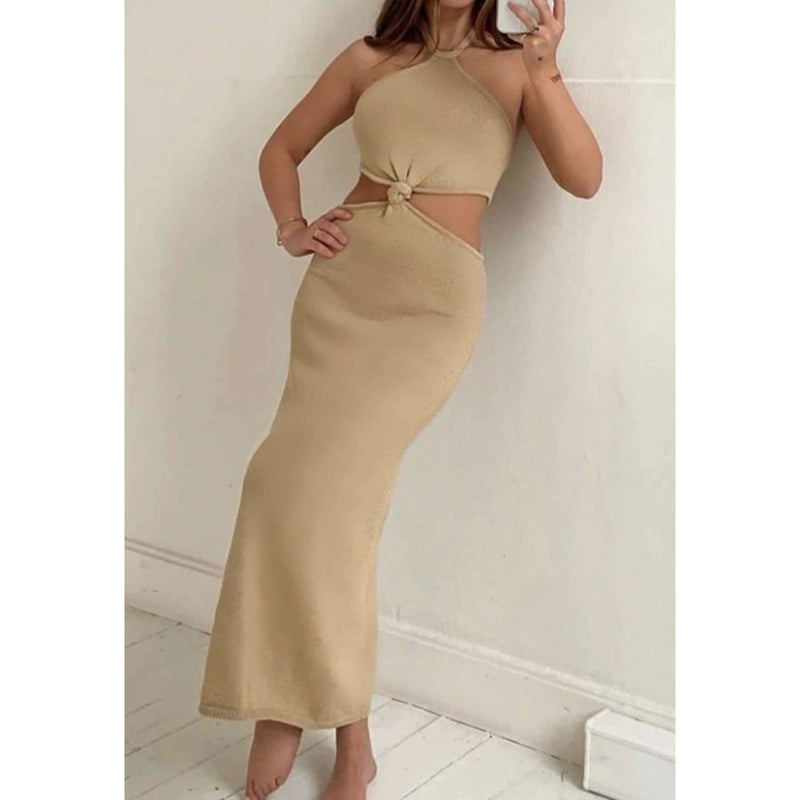ELLA MAXI DRESS - BEIGE DRESS Laucala Boutique