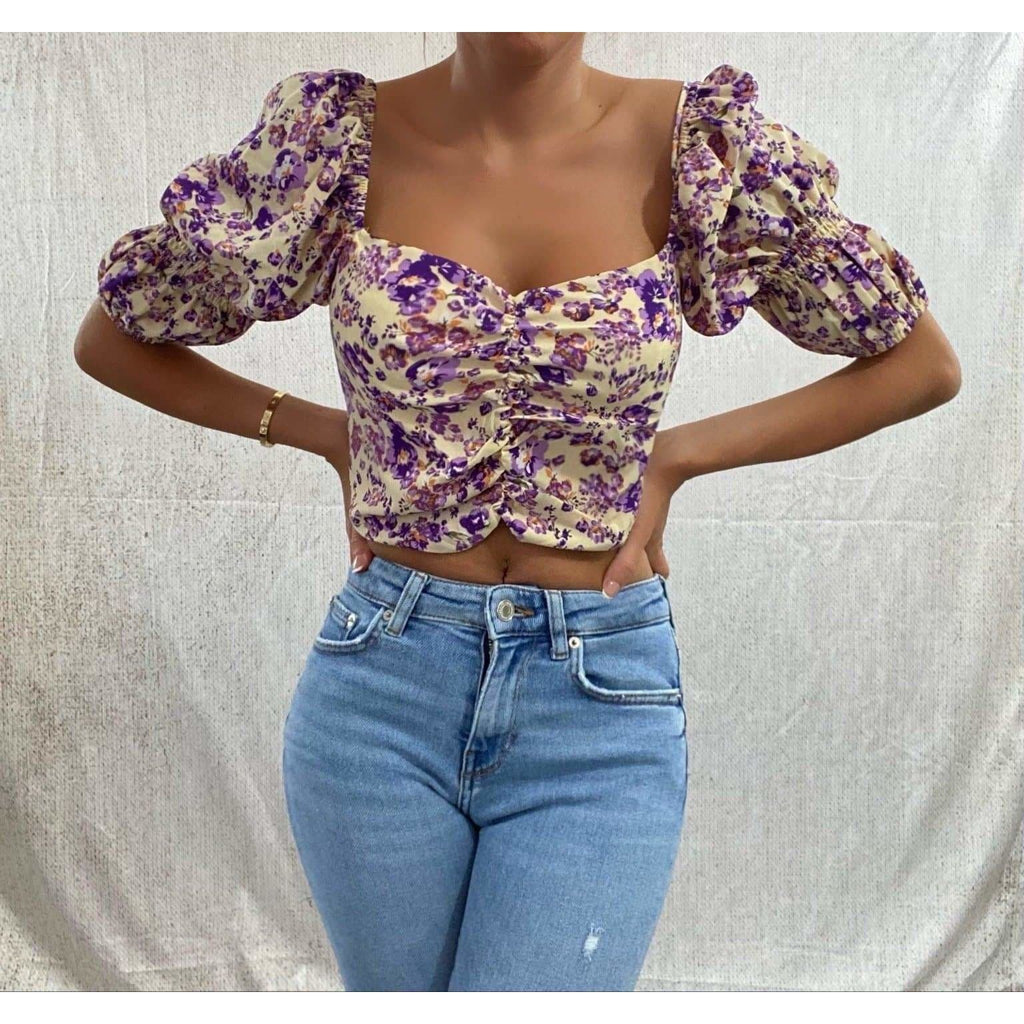 EMILIA FLORAL TOP TOP Laucala Boutique