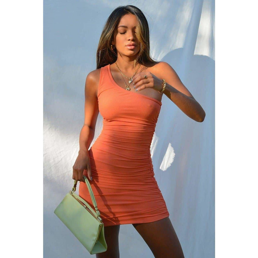 IZI SIDE DRESS - CORAL DRESS Laucala Boutique