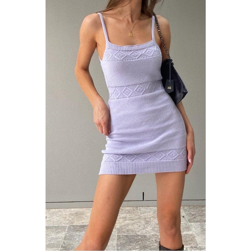JEYLAN KNIT DRESS - LILAC DRESS Laucala