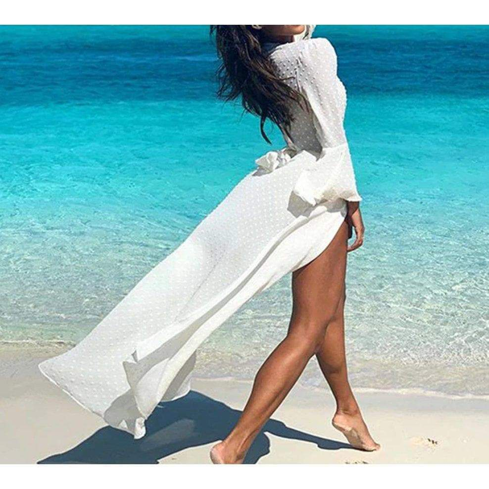LINA BEACH DRESS - WHITE DRESS Laucala Boutique