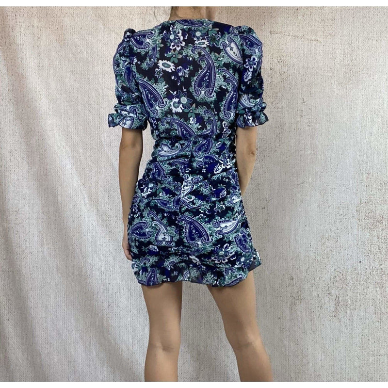 PAIGE MINI DRESS - BLUE DRESS Laucala Boutique