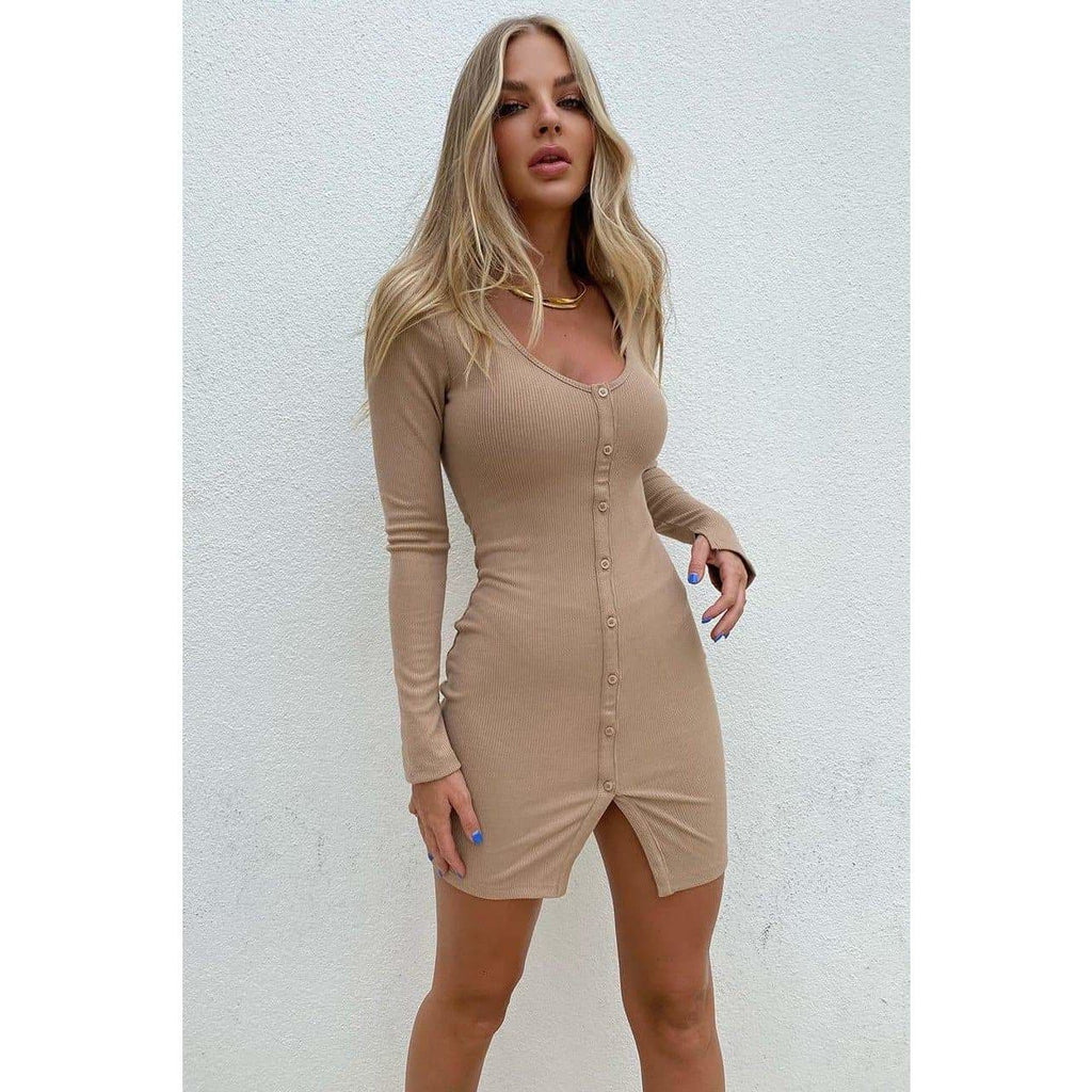 ROWAN DRESS - LATTE DRESS Laucala Boutique