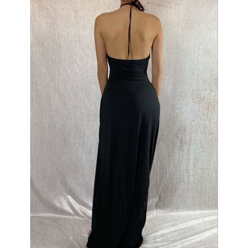SABINE CUT OUT MAXI DRESS - BLACK DRESS Laucala Boutique