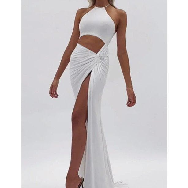 SABINE CUT OUT MAXI DRESS - WHITE DRESS Laucala Boutique