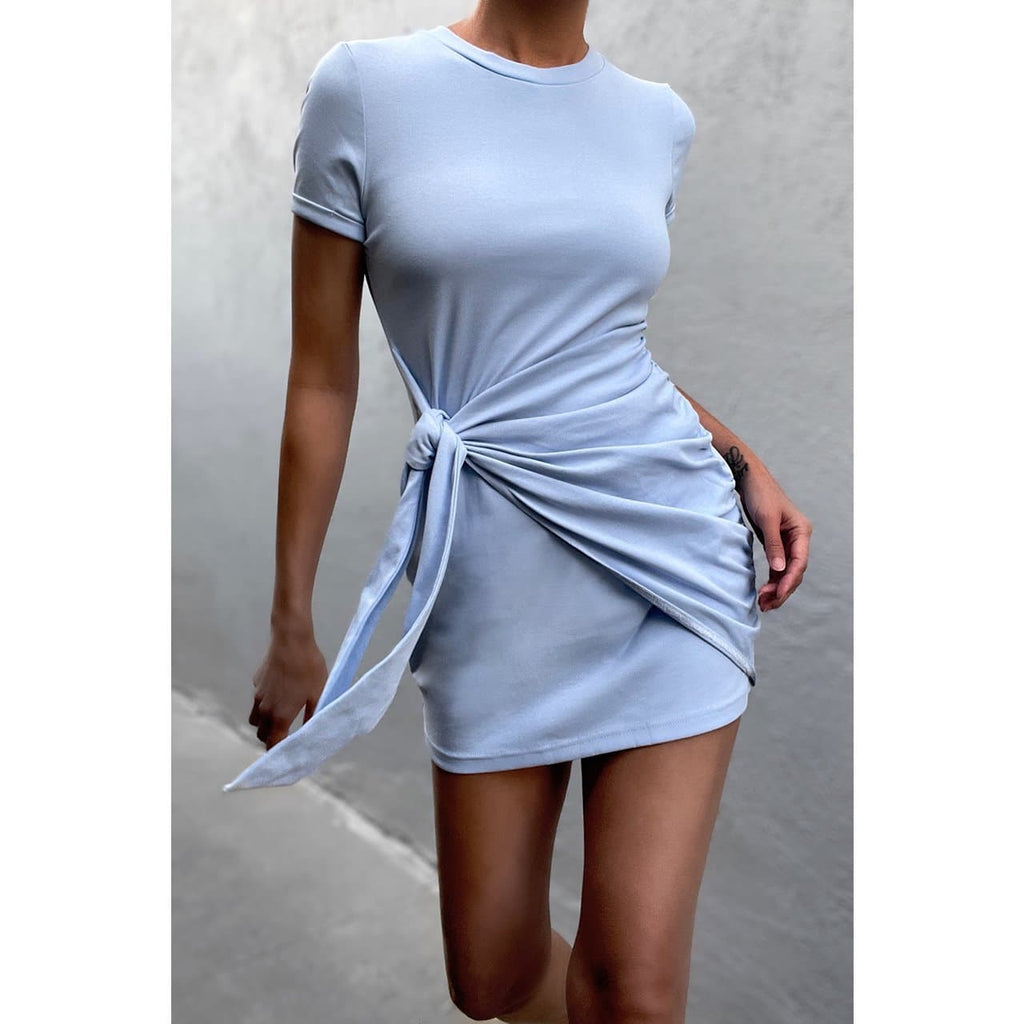 WINNIE SHIRT DRESS - SKY BLUE DRESS Laucala Boutique