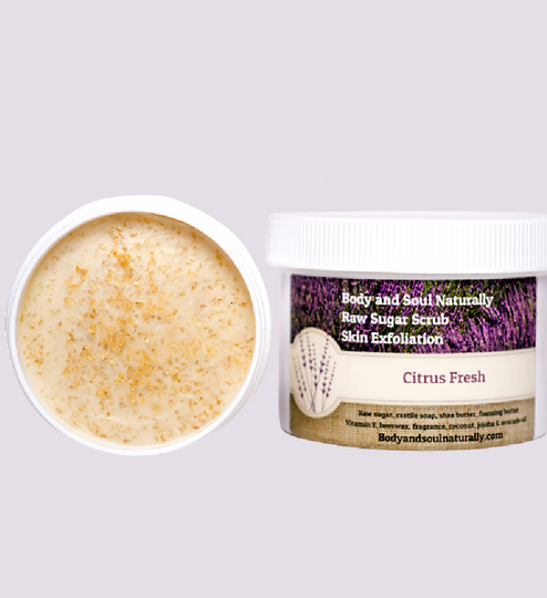 Whipped Sugar Scrub For Women With FREE Exfoliating Gloves!
