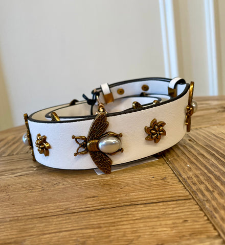 QUEEN BEE CLASSIC STRAP IN WHITE