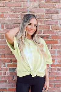SUMMER DAYS TIE DYE TUNIC IN SAGE GREEN