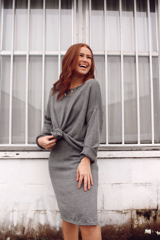 SWEATER WEATHER GRAY SKIRT