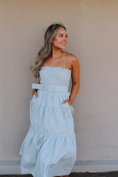 SPRING DAY SMOCKED MAXI DRESS