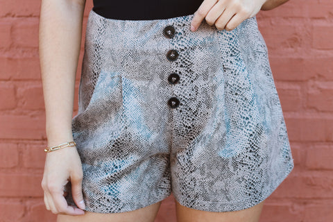 SNAKESKIN LOVER SHORTS