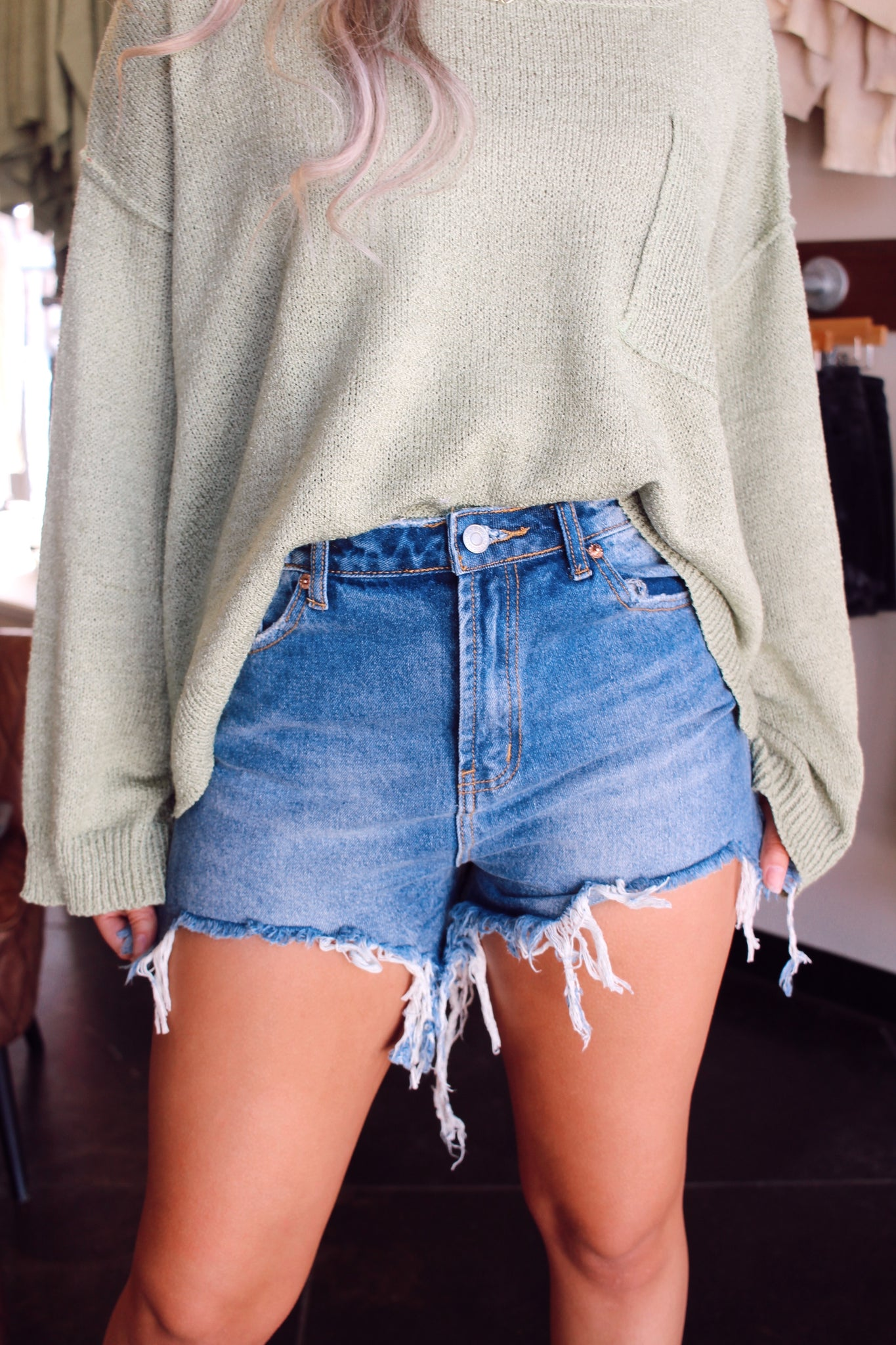 RUSTIC DENIM SHORTS