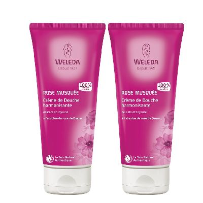 Duo Creme Douche Rose 2X200Ml Weleda