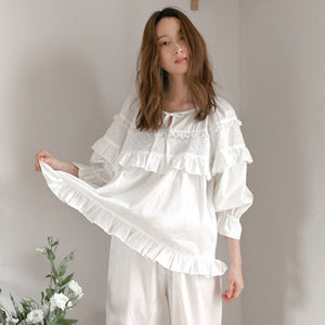 White Cotton Roomwear