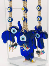 Load image into Gallery viewer, Elephant Glass Evileye Hanging for Good Luck