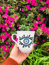 Load image into Gallery viewer, Evil Eye Design Personalized Mug Custom Gift With Your Name