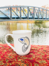 Load image into Gallery viewer, Evil Eye Design Fish and Bird Personalized Mug Custom Gift With Your Name