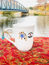 Load image into Gallery viewer, evil eye mug anthropologie