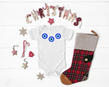 Load image into Gallery viewer, Evil Eye Design Baby Bodysuit Onesie Custom Made Cute Baby Onesie