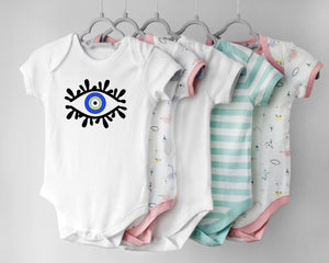 Evil Eye Design Baby Bodysuit Onesie Custom Made Cute Baby Onesie