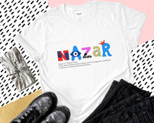 Load image into Gallery viewer, T-Shirt With Evil Eye Nazar Design Meaning Amida By Zaa/ Crew Neck Adult T-Shirt Custom Made