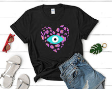Load image into Gallery viewer, Evil Eye Design Leopard Print Amida By Zaa T shirt Short-Sleeve Unisex T-Shirt