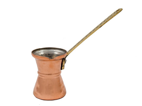 Greek coffee pot, copper, hammered 3.35oz/100ml