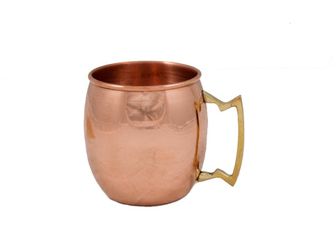Moscow mule cups, solid copper, un-lined, made in Greece