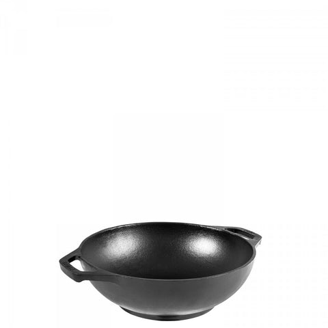 cast iron woks, by Lodge, made in USA