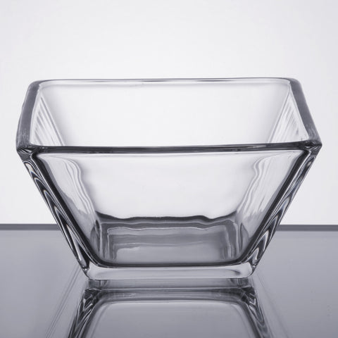 glass bowl, square by Libbey, made in USA