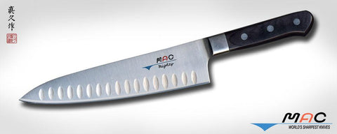 "MAC knives, PROFESSIONAL SERIES 8"" CHEF'S KNIFE WITH DIMPLES (MTH-80)"