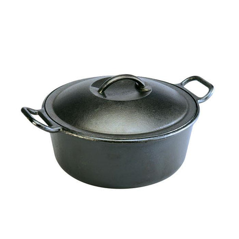 "cast iron ""ProLogic"" 7qt Dutch Ovens"" by Lodge, made in USA"
