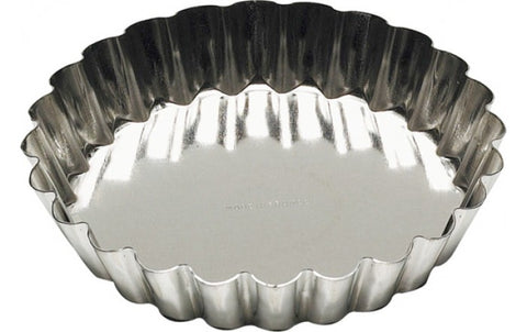 tart / flan pan, tin plated, fixed bottom, made in France