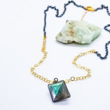 Load image into Gallery viewer, Mixed Metal with Labradorite Free Forms (Gold & Oxi Silver)