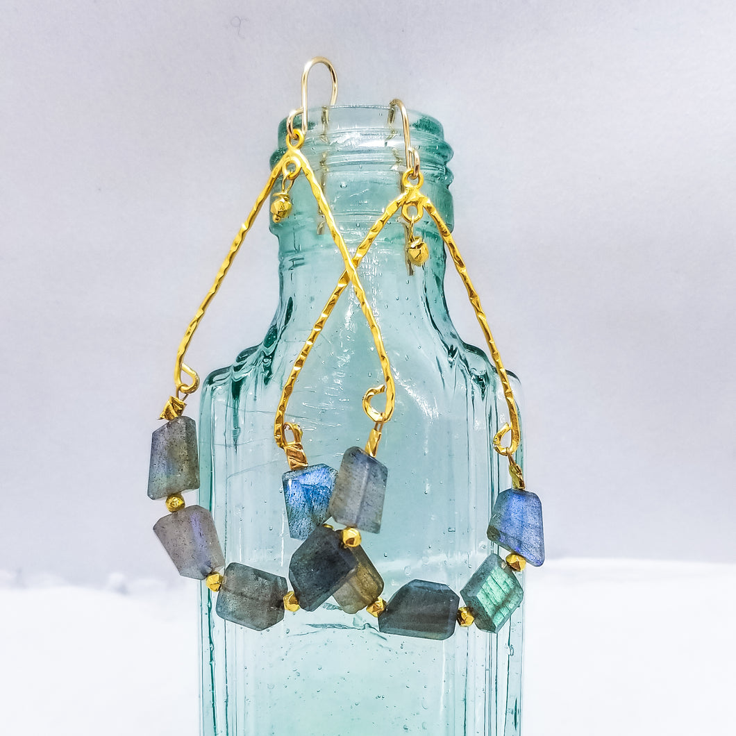 Blue-Flash Labradorite Swings