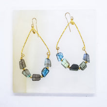 Load image into Gallery viewer, Blue-Flash Labradorite Swings