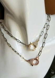 Antique Paperclip with Rosegold Clasp
