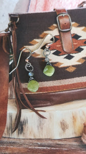 Green Garnet Delicacies with Labradorites