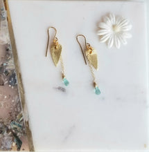 Load image into Gallery viewer, Airy Hearts ❤ (Gold & Turquoise)