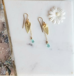 Airy Hearts ❤ (Gold & Turquoise)